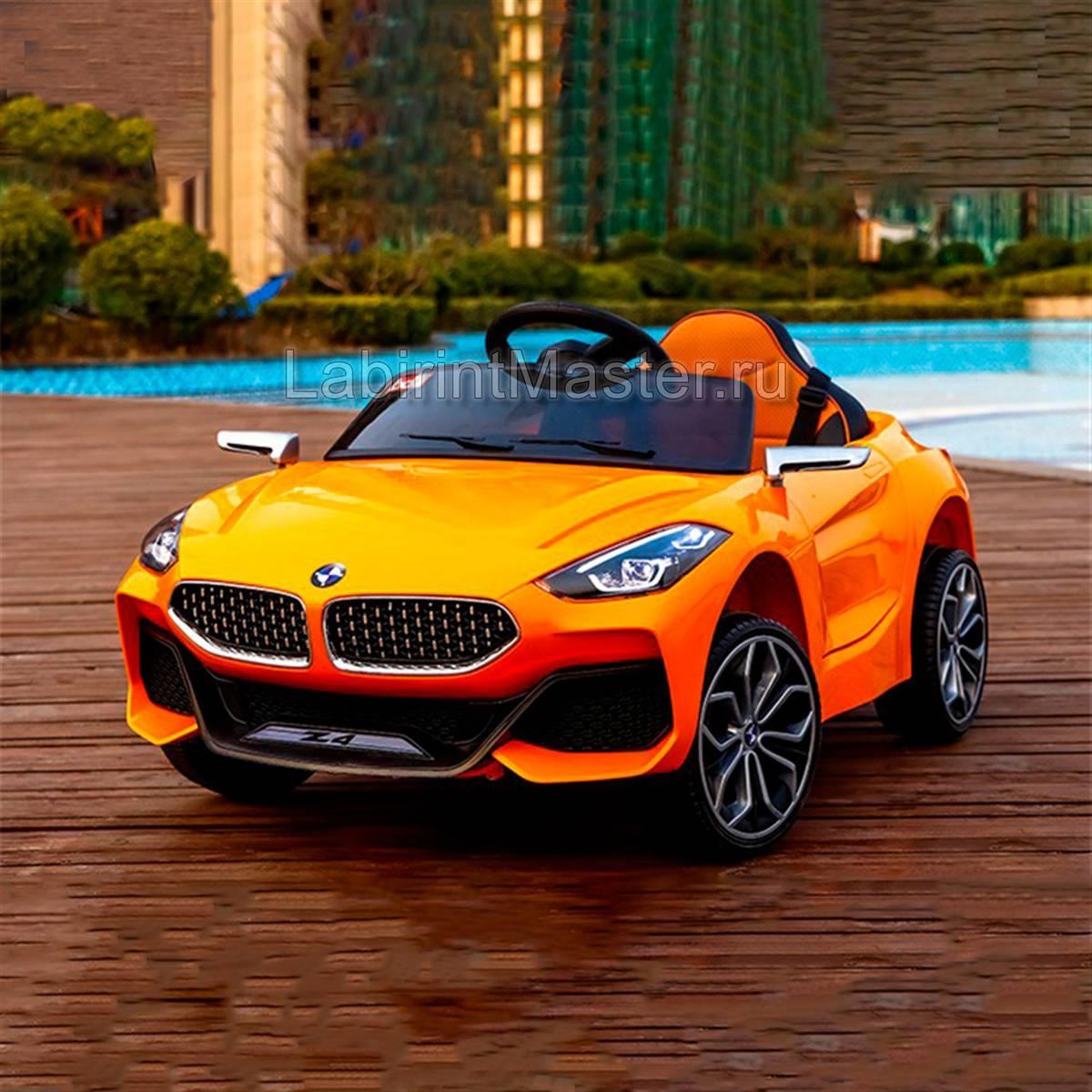 Детский электромобиль «BMW Z4» оранжевый | ЛабиринтМастер